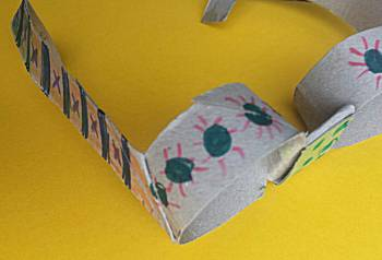 Zonnebril van wc-rol