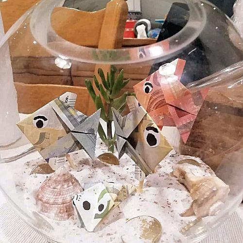Vissenkom geldcadeau