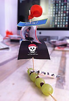 Piratenbootje trakteren