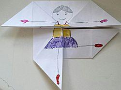 Ballerina op vouwwerkje