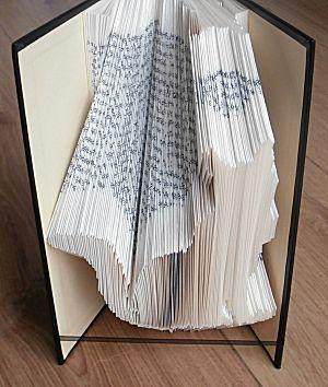 Boekkunst poes in een boek vouwen