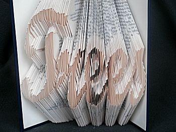 Boekkunst tekst in boek vouwen