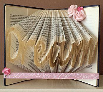 Vouw een boekkunstwerk tekst Dream