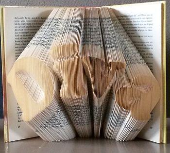 Vouw een boekkunstwerk Diva