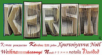 Vouw een boekkunstwerk (5 letters)