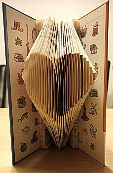 Boekkunst 2 - Vouwen van een simpel patroon zoals een hartje